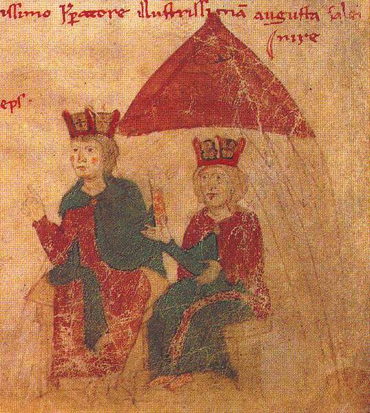 Emperor Heinrich VI of the Holy Roman Empire and Queen Constance of Sicily