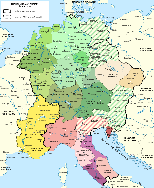 The Holy Roman Empire in the 11th Century CE